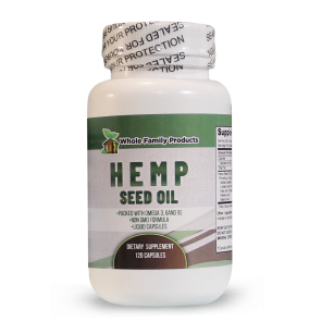 Hemp Seed Oil 120ct | Whole Family Products