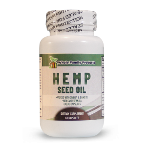 Hemp Seed Oil 60ct | Whole Family Products