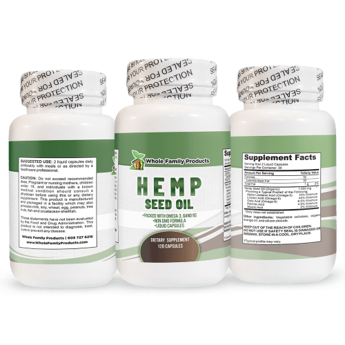 Hemp Seed Oil Supplement Help Ease Depression and Anxiety