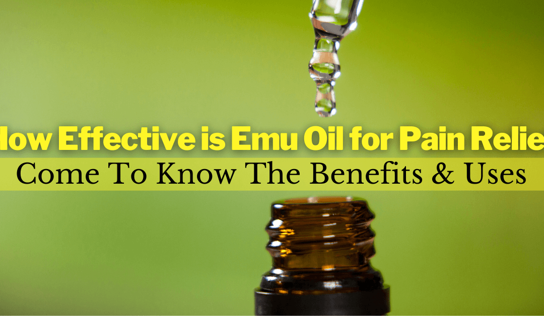 How Effective is Emu Oil for Pain Relief: Come To Know The Benefits & Uses