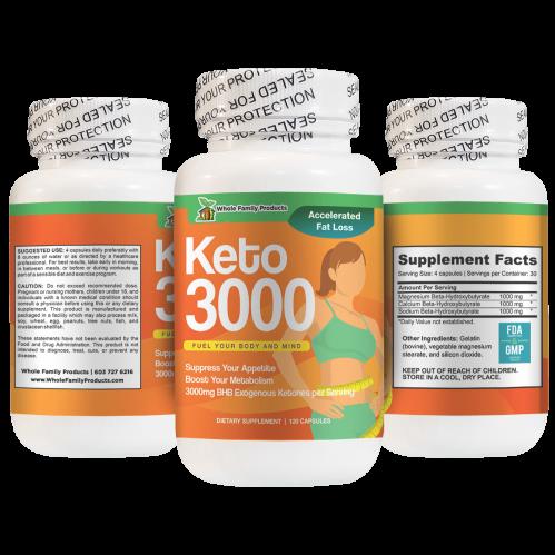 Keto 3000mg BHB Exogenous Ketones Helps Boost Your Metabolism