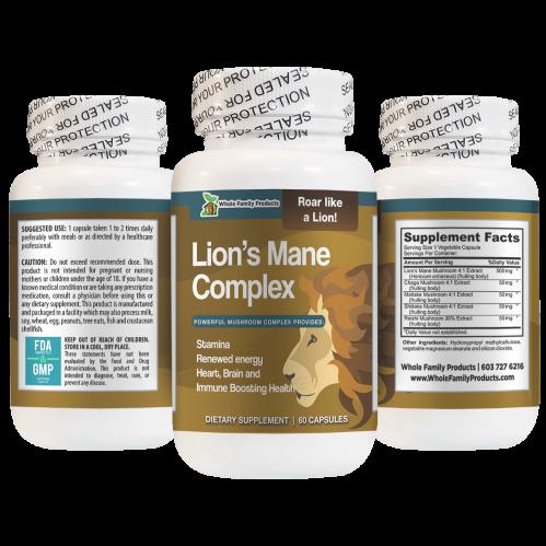Lion's Mane Powerful Mushroom Complex Renewed Energy and Stamina