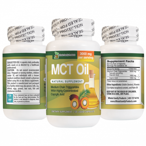 MCT Oil Natural Supplement Medium Chain Triglycerides