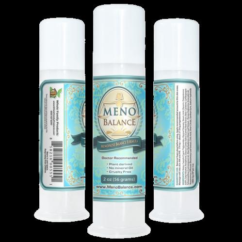 MenoBalance Cream 2oz Pump for PMS Symptoms Relief