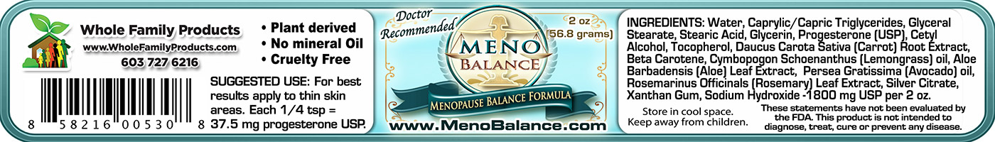 Menobalance 2oz Jar label