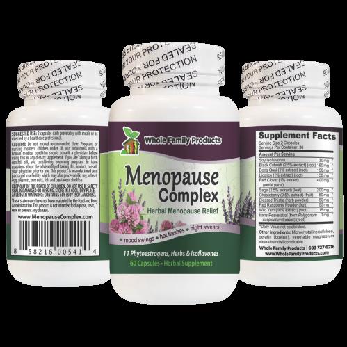 Menopause Complex Natural Herbal Menopause Relief for Mood Swings