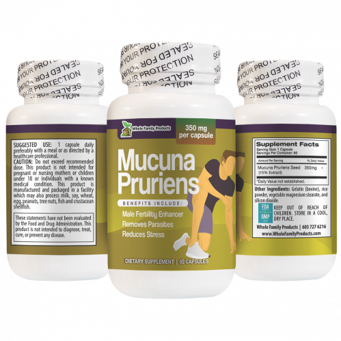 Mucuna Pruriens Helps Removes Parasites and Reduces Stress