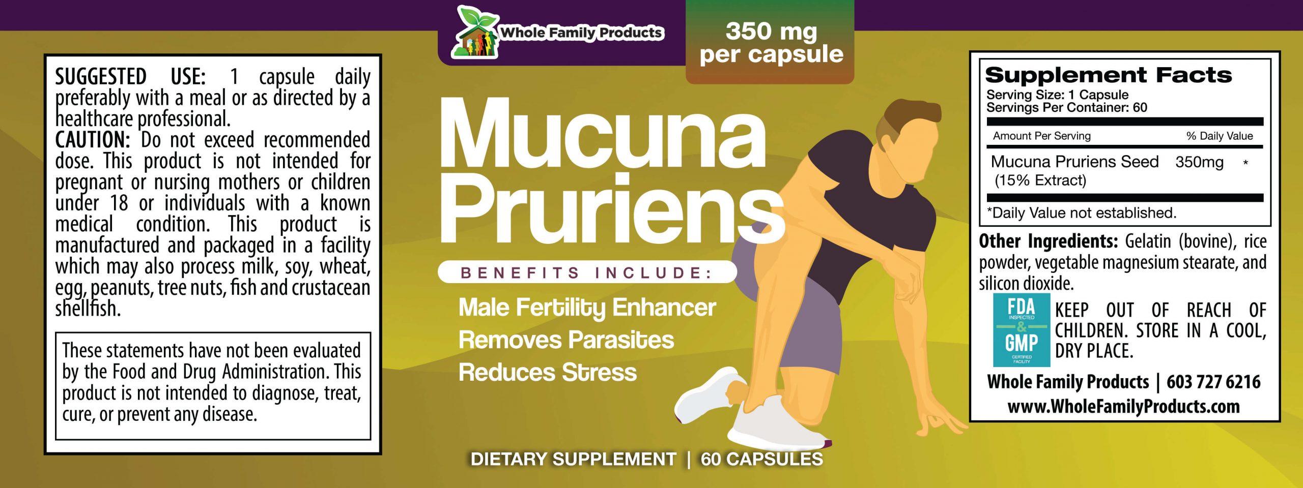 Mucuna Pruriens WFP Product Label