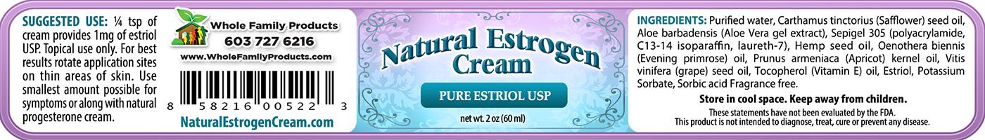 Natural Estrogen 2oz Jar Label