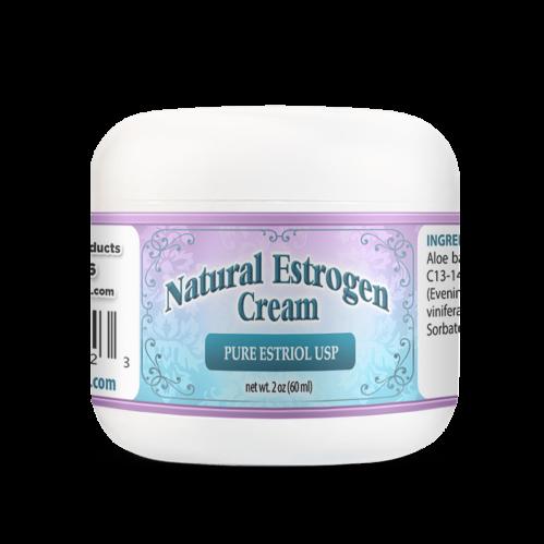 Natural Estrogen Cream 2oz Jar Reduce Vaginal Dryness