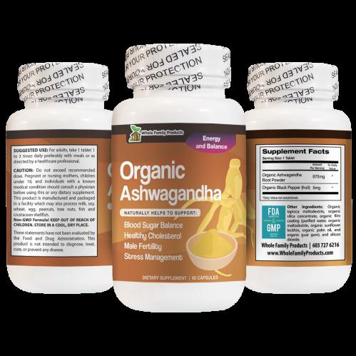 Organic Ashwagandha Natural Helps To Support Blood Sugar Balance and Stress Management