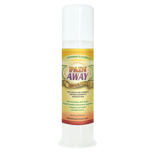 Pain Away Cream 3oz Pump Peppermint Ease the Pain and Inflammation Due to Arthritis