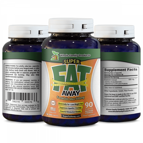 Super Fat Away Foskolin Supplement 90 Capsules for Weight Loss