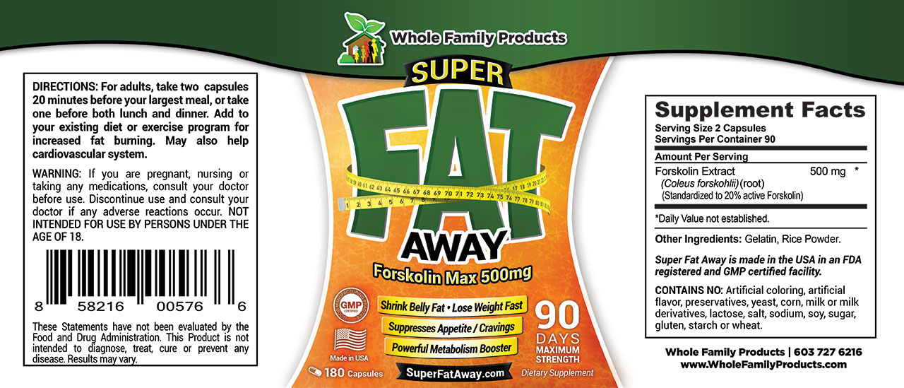 Super Fat Away Label