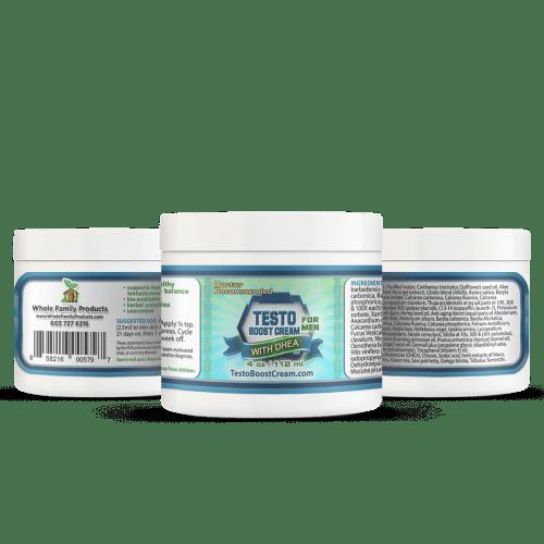 Testo Boost Cream for Men 4oz Jar Helps Men Boost Testosterone