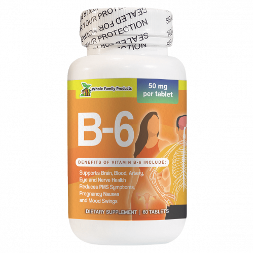 Vitamin B6 60 Capsules Supports Brain Blood and Artery