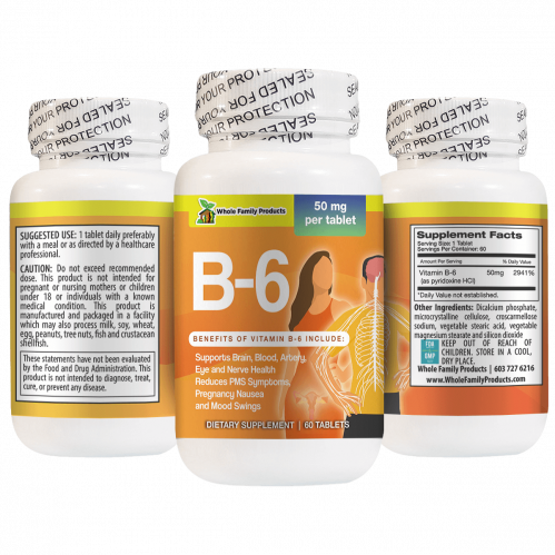 Vitamin B6 60 Capsules Supports Pregnancy Nausea and Mood Swings