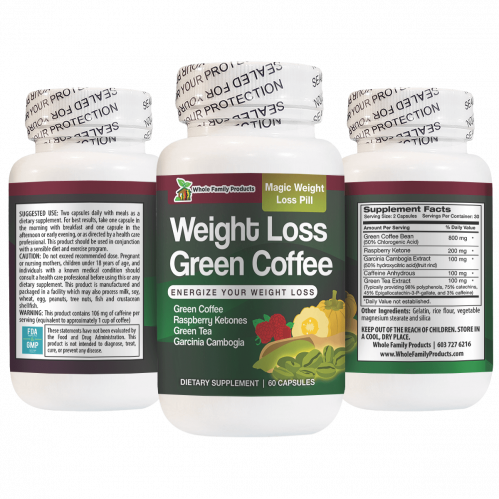 Weight Loss Green Coffee 60 Capsules Magic Weight Loss Pill