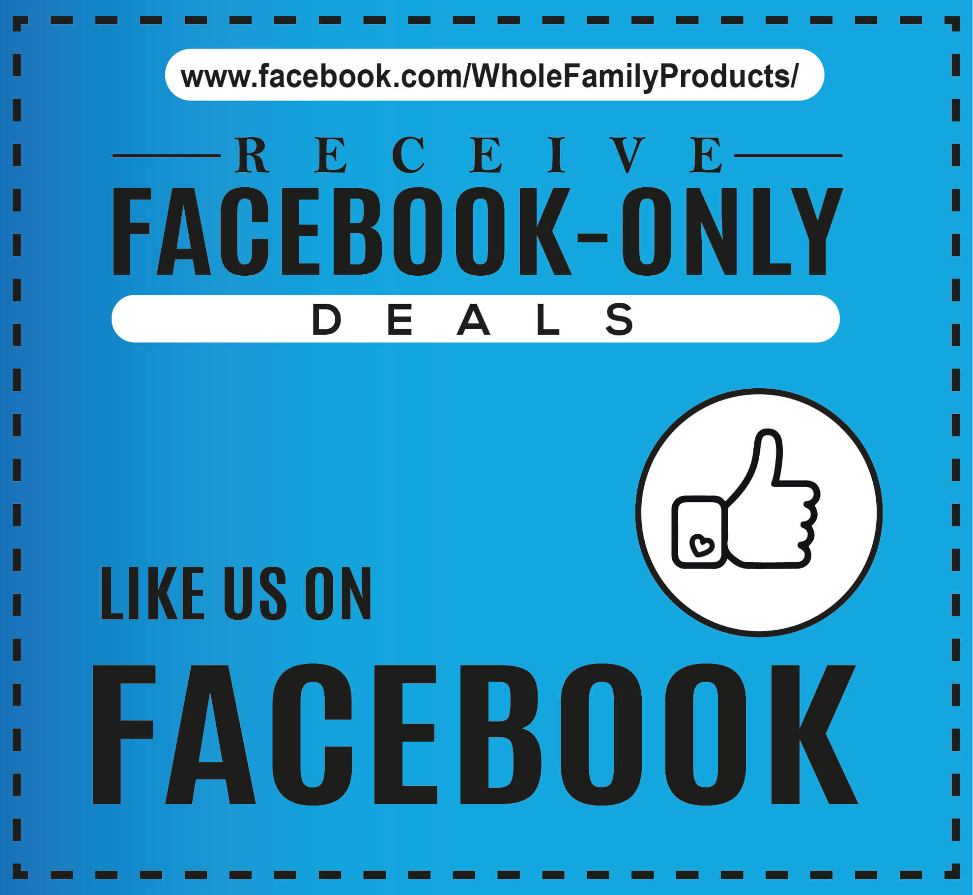 Whole Family Products Facebook Banner